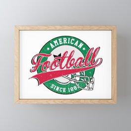 Vintage American Football Shirt For Men And Women Framed Mini Art Print
