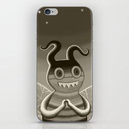 bee movie noir iPhone Skin
