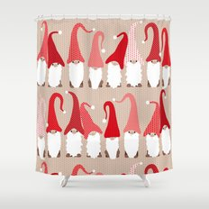 Gnome friends Shower Curtain