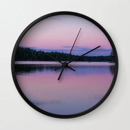 Sunset on Little Loon Wall Clock