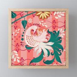 Living folklore love Framed Mini Art Print