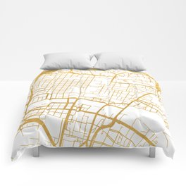 GLASGOW SCOTLAND CITY STREET MAP ART Comforters