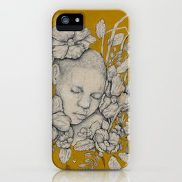 """Guardians"" - Surreal Floral Portrait Illustration iPhone Case"