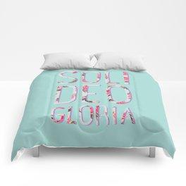Soli Deo Gloria Floral Comforters