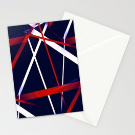 Seamless Red and White Stripes on A Blue Background Stationery Cards