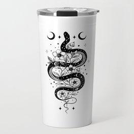 Serpent Spell -Black and White Travel Mug