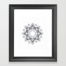To the Center of the Unalome  Framed Art Print