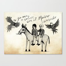 And you will return with your horse tired Canvas Print