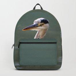 Grey Egret close up Backpack