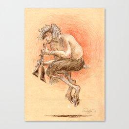 Faune Alan dessin Canvas Print