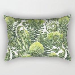 Watercolor prehistoric plants Rectangular Pillow