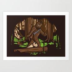 The Bigfoot of Endor Art Print