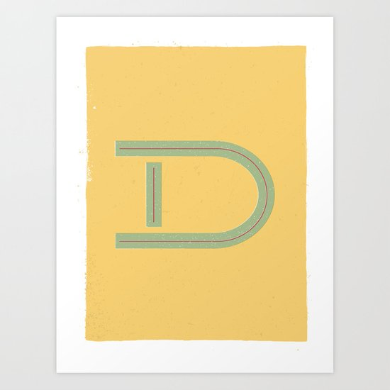 D 001 Art Print