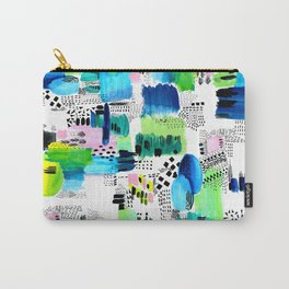 Playful Collage Carry-All Pouch