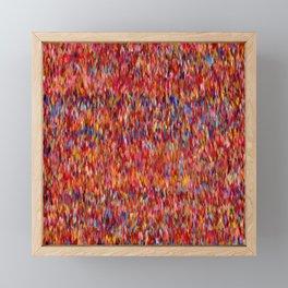 Maximalist Textile Pattern Framed Mini Art Print