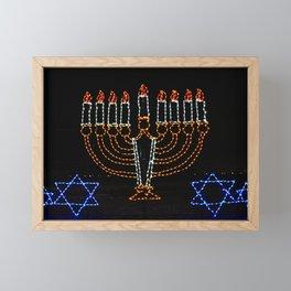 Menorah Framed Mini Art Print