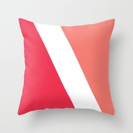Pink ink white ink Throw Pillow