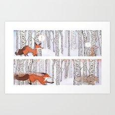 A Winter Race Art Print
