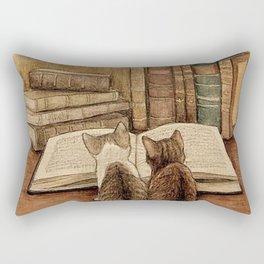 Kittens Reading A Book Rectangular Pillow