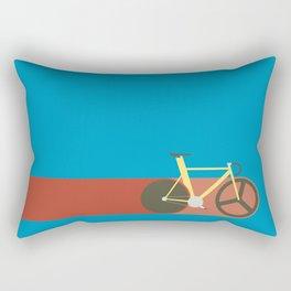Red Track Rectangular Pillow