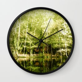 A house in the lake Wall Clock