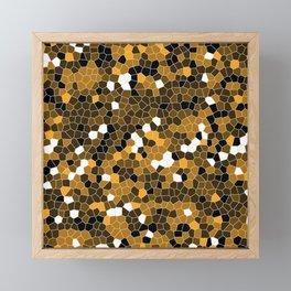 Orange Polycamo Framed Mini Art Print