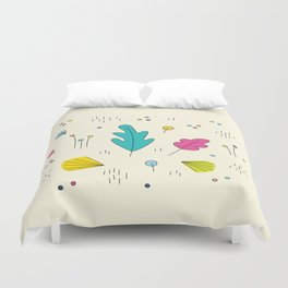 leaves and colors in the forest Duvet Cover