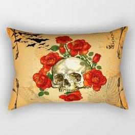 Skull with roses Rectangular Pillow