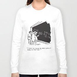 Sidney Harris Miracle Explicit Science Math Lab Humor Math   t-shirts Long Sleeve T-shirt