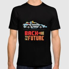 Back to the future: Delorean 2X-LARGE Black Mens Fitted Tee