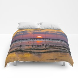 Sunset on the Sound Side Comforters