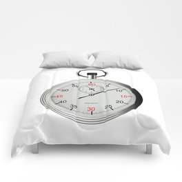 Silver Stop Watch Comforters
