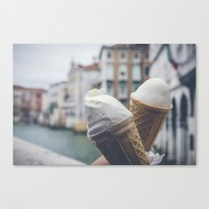 Love and ice cream Canvas Print