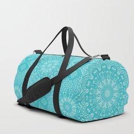 Teal mandala Duffle Bag