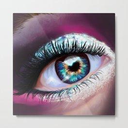 Eye love glitter Metal Print