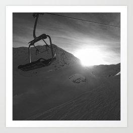 Chairlift, Verbier Art Print