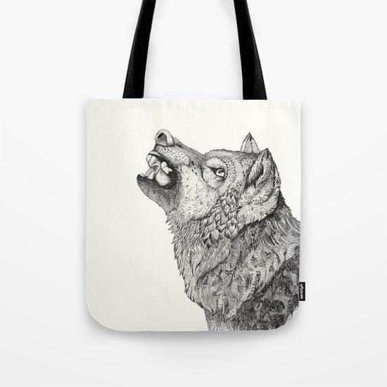 Wolf // Graphite Tote Bag