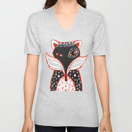 Kaleidoscope Fox Unisex V-Neck
