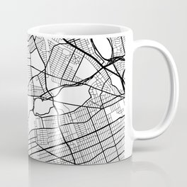 Queens New York Street Map Minimal Coffee Mug