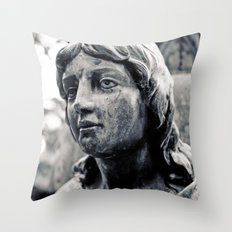Lady of stone Throw Pillow