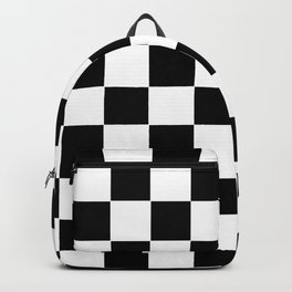 Checker Cross Squares Black & White Backpack