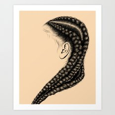 Crown: Long Braids Art Print