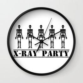 X-Ray Party Wall Clock