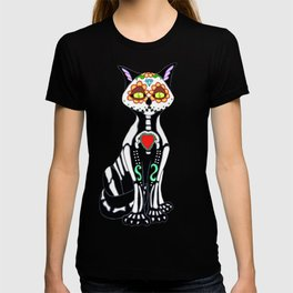 Sugar Skull Kitty Cat T-shirt