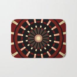Dart Board Inspired Pattern Design Badematte