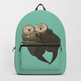 Significant Otters - Otters Holding Hands Backpack