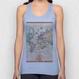 Vintage World Map 1801 Unisex Tank Top
