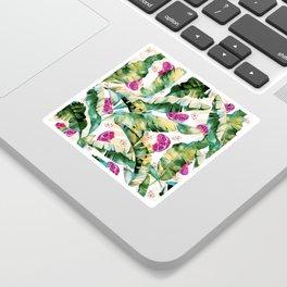 Banana leaf & Pomegranate II Sticker