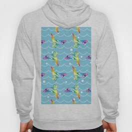 the Angel on the Dolphin on the Sea Wave_B Hoody