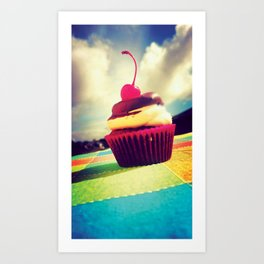 Colorful Cupcake Art Print